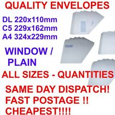 White Paper Envelopes