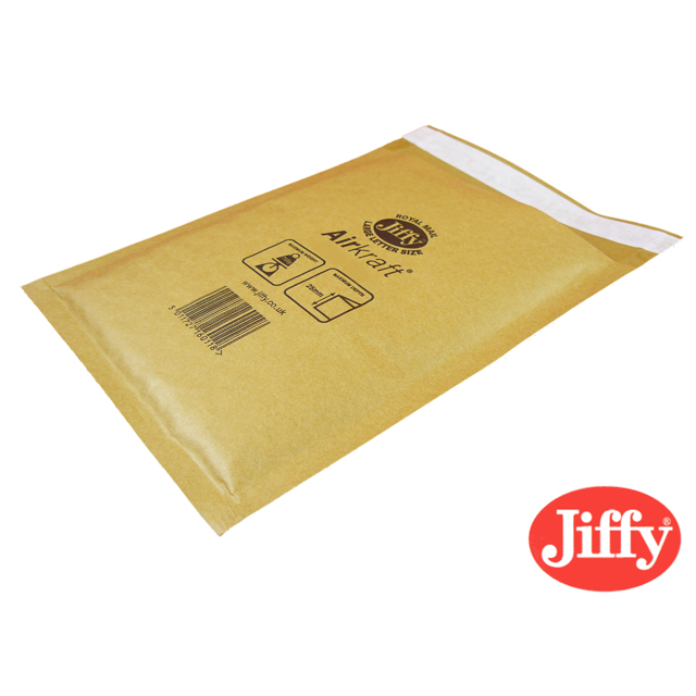 500x Jiffy AirKraft Bag Jiffylite Gold 220x320mm JL-3