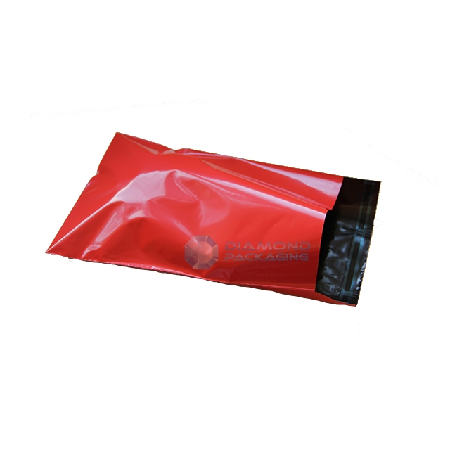 "2000x Red Mailing Bags 10x14"" - 250x350mm +Lip"